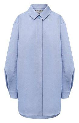 Рубашка из смеси шелка и хлопка Jacquemus 193SH06/15330