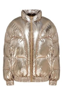 Куртка-пуховик цвета металлик Kristen Isabel Marant Etoile 958154280