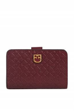 Бордовый кожаный кошелек Furla 1962161574