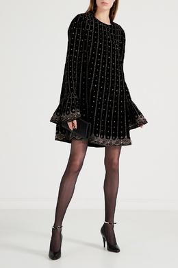 Короткое платье с блестящей вышивкой Gucci 470161866