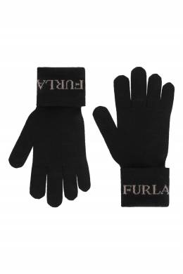 Перчатки Eva черного цвета Furla 1962161812