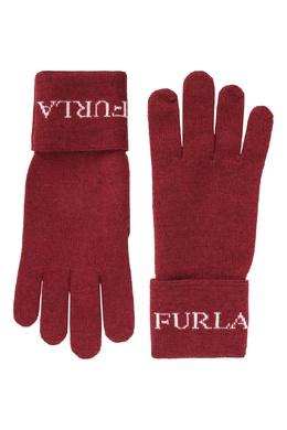 Перчатки бордового цвета Eva Furla 1962161810