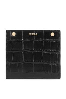 Черный кошелек из тисненой кожи Furla 1962161594