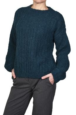 Синий свитер с объемными рукавами Manila Grace 3056161332