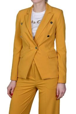Желтый пиджак с декоративными пуговицами Manila Grace 3056161326
