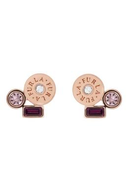 Золотистые серьги-пусеты Crystal Furla 1962161541