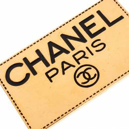 Chanel Gold Tone Enamel Employee Tag Pin Brooch 238101