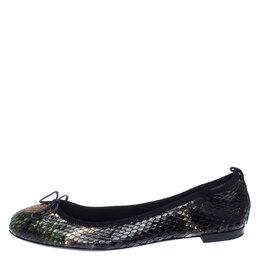 Gucci Multicolor Python Bow Ballet Flats Size 38 239866