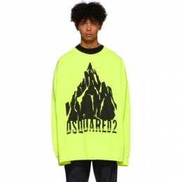 Dsquared2 Yellow Slouch Fit Sweatshirt S74GU0339 S25030