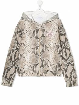 Roberto Cavalli Junior python print embroidered jacket JJT901FOR80