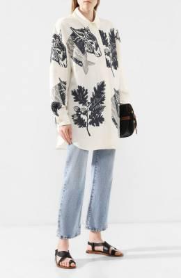 Рубашка из смеси хлопка и вискозы Jacquemus 193SH06/37153