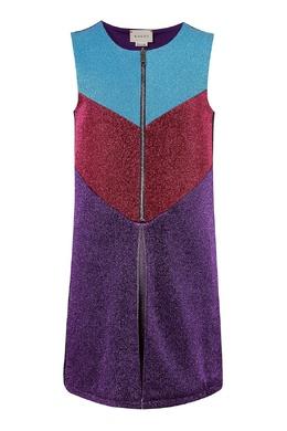 Разноцветный блестящий сарафан Gucci Kids 1256161857