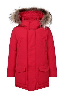 Красная куртка с капюшоном и карманами Il Gufo 1205161914