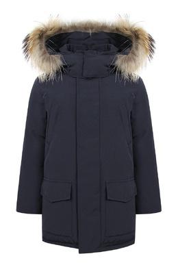 Прямая серая куртка с меховой отделкой Il Gufo 1205161921