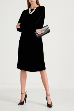Платье из черного бархата Gucci 470162366