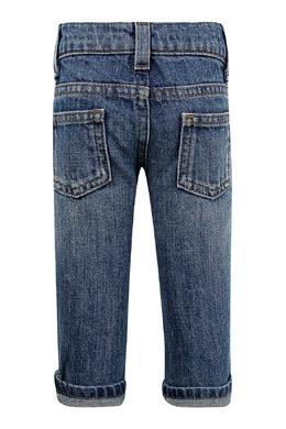 Голубые джинсы с отворотами Gucci Kids 1256161951