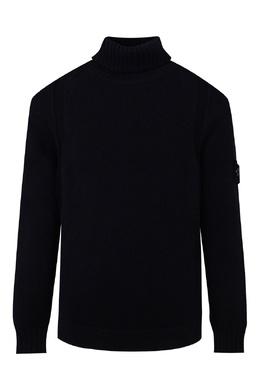 Темно-синий свитер с высокой горловиной Stone Island Kids 1329161958