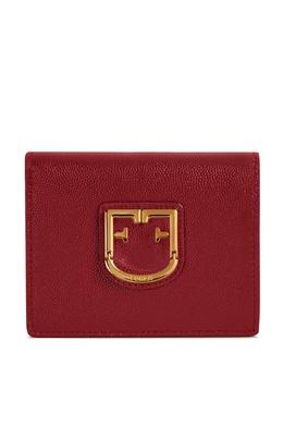 Красный кошелек из тисненой кожи Furla 1962162090