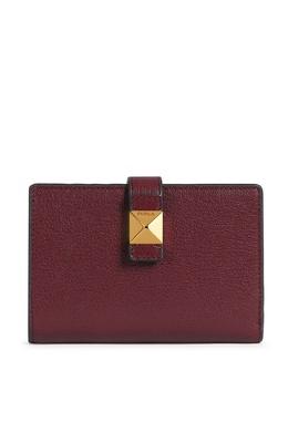 Бордовый кошелек из кожи Furla 1962162089