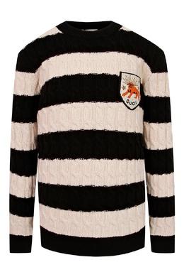 Черно-розовый свитер с логотипом Gucci Kids 1256161967