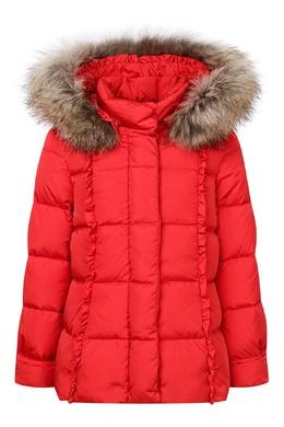 Красная куртка с меховым капюшоном Il Gufo 1205161875