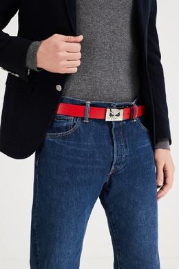 Двусторонний черно-красный ремень с пряжкой Bag Bugs Fendi 1632162499