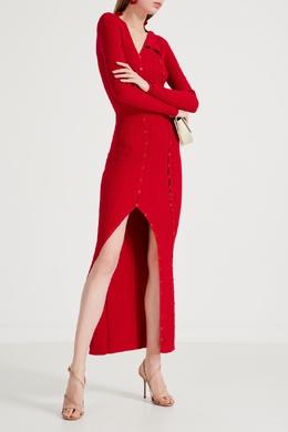 Красное трикотажное платье на пуговицах Jacquemus 2985161701