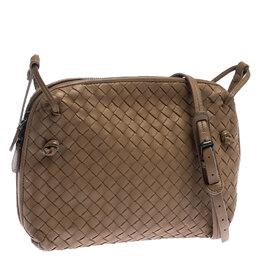 Bottega Veneta Beige Intrecciato Leather Nodini Crossbody Bag 235839