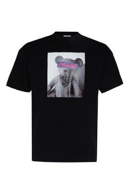 Черная футболка с принтом Toy Palm Angels 1864162148
