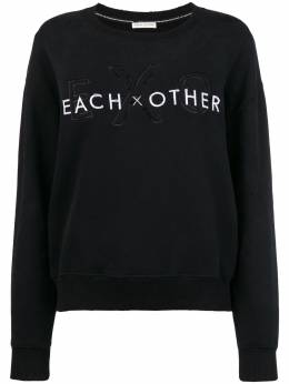Each X Other front logo loose sweatshirt FW18G13072