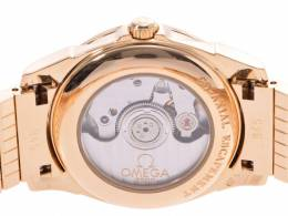 Omega Shell Yellow Gold Diamond and Stainless Steel 4186.75 Women's Wristwatch 31MM 239759