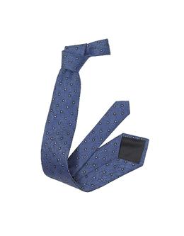 Синий Шелковый Галстук с Маленькими Цветами Forzieri 2856/3