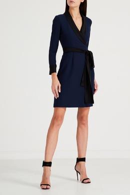 Синее мини-платье с лацканами Gucci 470119752