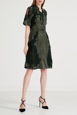 Зеленое платье со шнуровкой Gucci 470160793