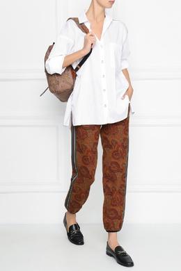 Рюкзак из коричневого материала с узорами пейсли Etro 907158871