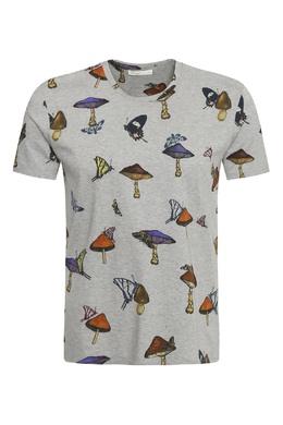 Серая футболка с принтом Etro 907159382