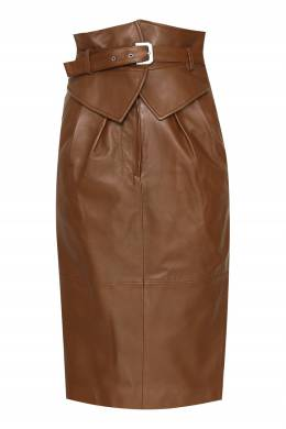 Коричневая кожаная юбка Alberta Ferretti 1771163253
