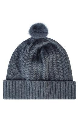 Серая шапка с меховым помпоном Max & Moi 2919162539