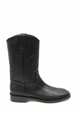 Черные фактурные сапоги Alberta Ferretti 1771163297