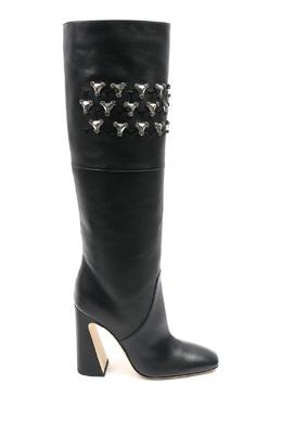 Черные кожаные сапоги с отделкой Alberta Ferretti 1771163296