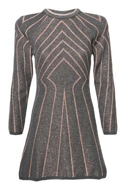 Серое платье с узором Alberta Ferretti 1771163343