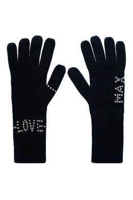 Черные перчатки с заклепками Max & Moi 2919162541