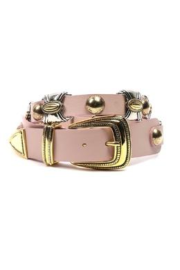 Розовый ремень с металлической отделкой Alberta Ferretti 1771163236
