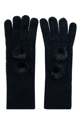 Черные перчатки с меховой отделкой Max & Moi 2919162504