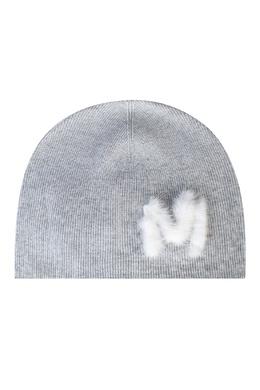 Серая шапка-бини с аппликацией Max & Moi 2919162563