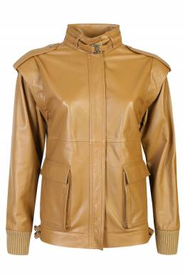 Коричневая кожаная куртка Alberta Ferretti 1771163240