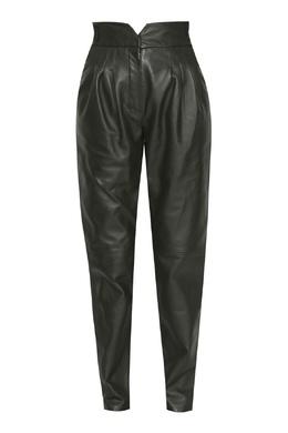 Зеленые кожаные брюки Alberta Ferretti 1771163248