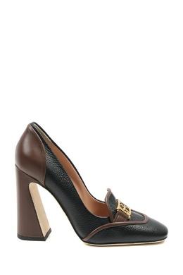 Кожаные туфли с золотистой пряжкой Alberta Ferretti 1771163284