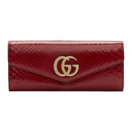 Gucci Red Snake GG Broadway Clutch 192451F04400601GB