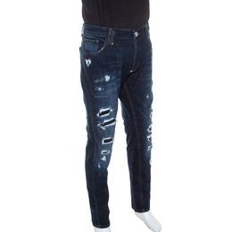 Philipp Plein Blue Denim Super Straight Cut Snatch Jeans 3XL 240322